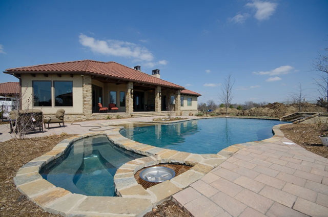 Villa Custom New Construction Outdoor Living in Wichita