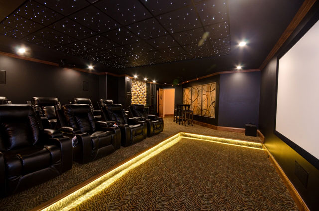 Villa Custom New Construction Home Theater in Wichita