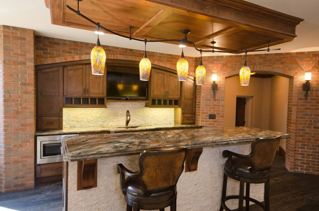 Villa Custom New Construction Bar and Entertainment in Wichita