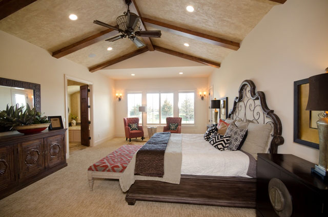 Villa Custom New Construction Bedroom in Wichita