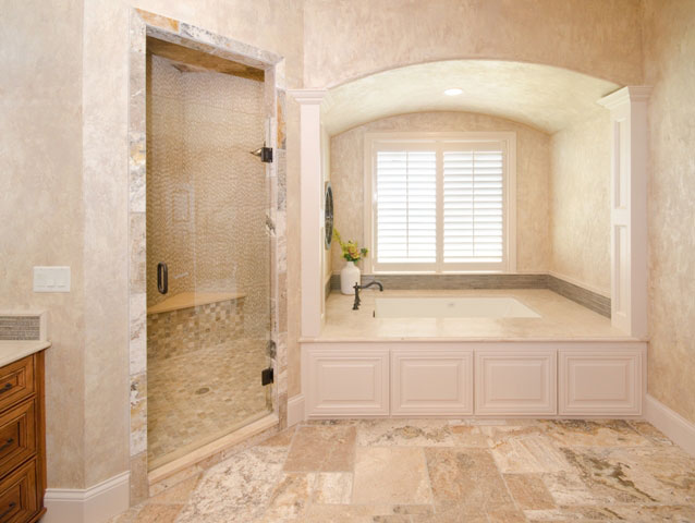 Villa Custom New Construction Bathroom in Wichita