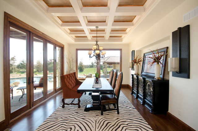 Villa Custom New Construction Dining Room in Wichita