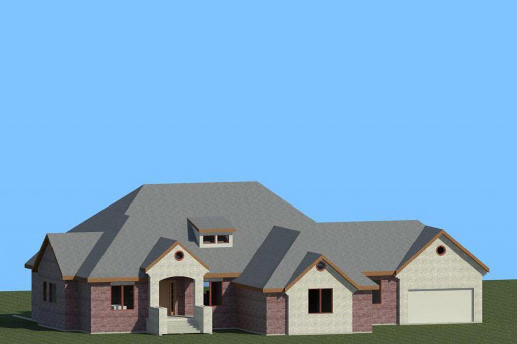 3D Rendering Berkley Custom Home in Wichita