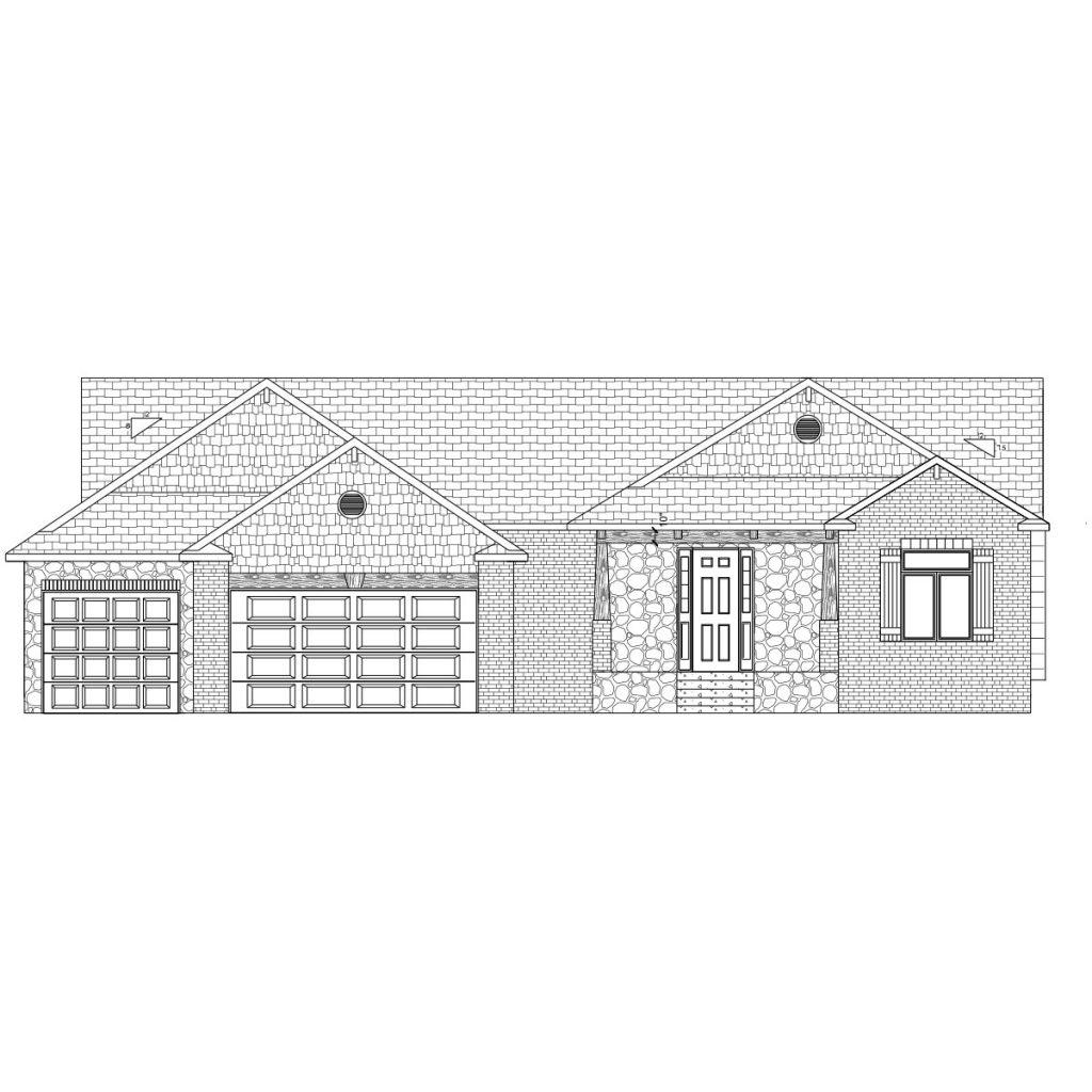Brookshire Custom Home Front Elevation in Wichita