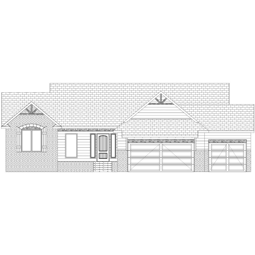 Cordona Custom Home Front Elevation in Wichita