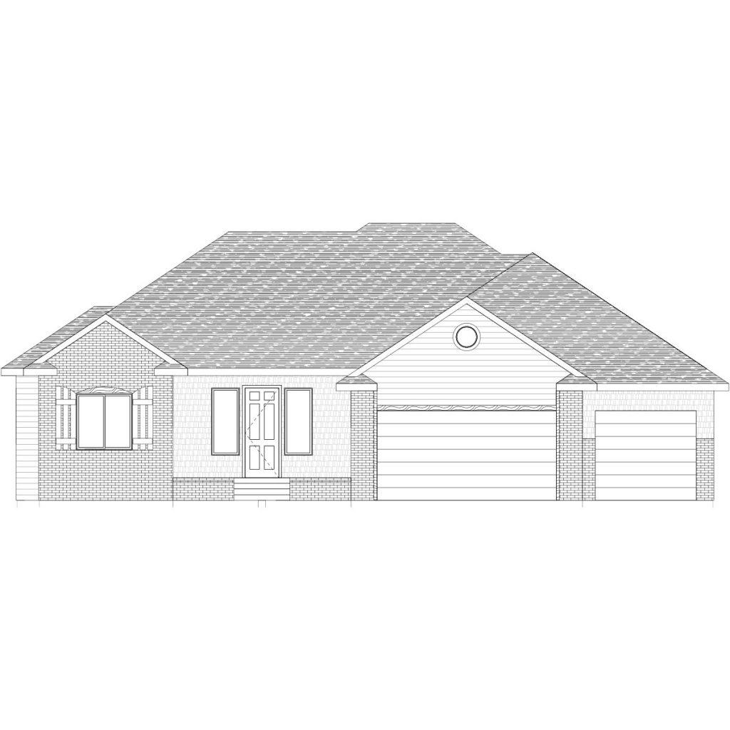 Hampton Custom Home Front Elevation in Wichita