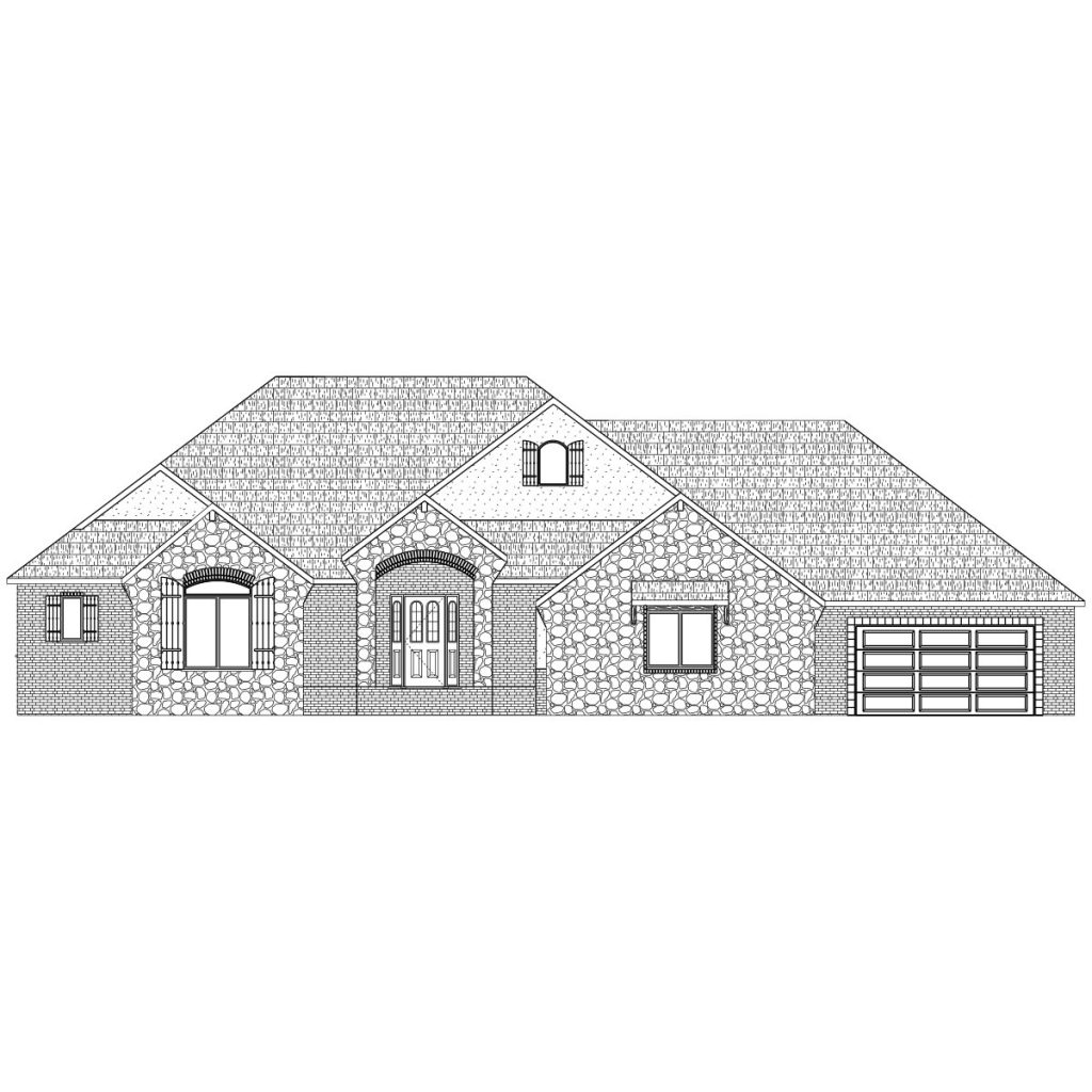 Hathaway Custom Home Front Elevation in Wichita