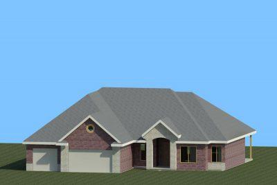 Wichita New Home Floorplan Morningside 3D Rendering