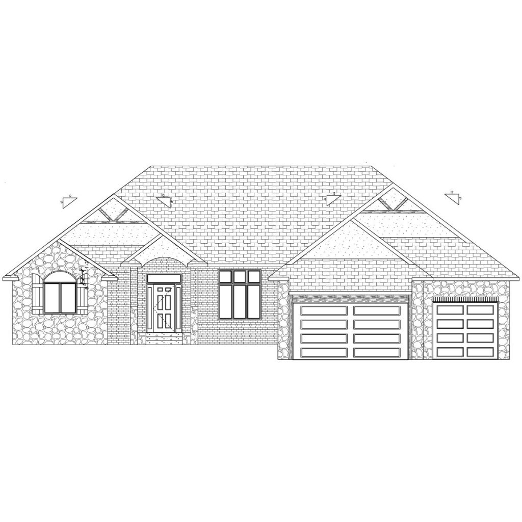 Rockshire Custom Home Front Elevation in Wichita