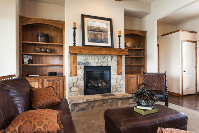 Winthrop Custom New Construction Living Room in Wichita