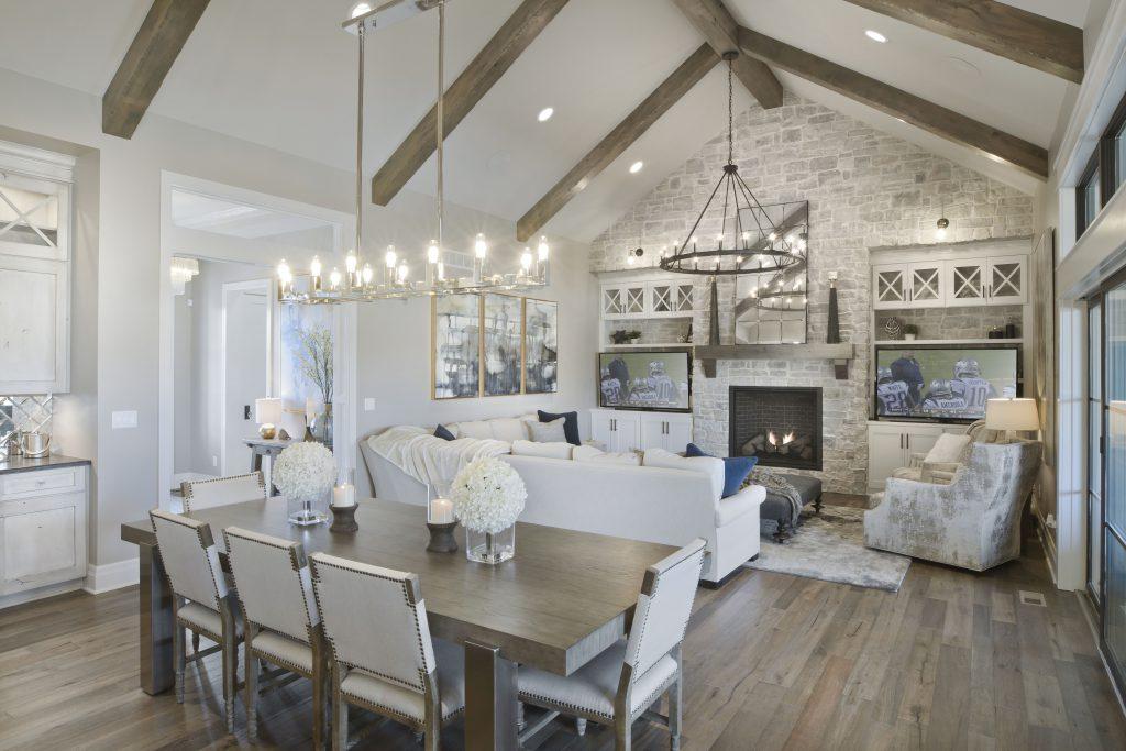 Magnolia Custom New Construction Living Room in Wichita