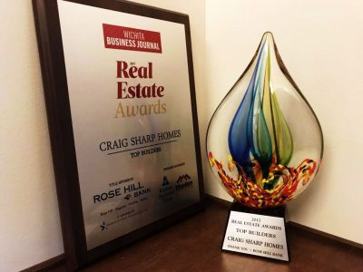 Craig Sharp Homes Top Builder Award