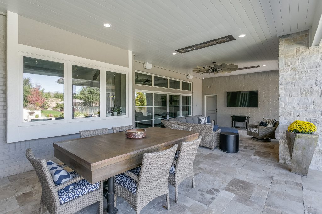 Magnolia Floor Plan Outdoor Dining and Living Areas