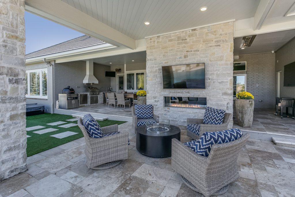 Magnolia Floor Plan Outdoor Fireplace