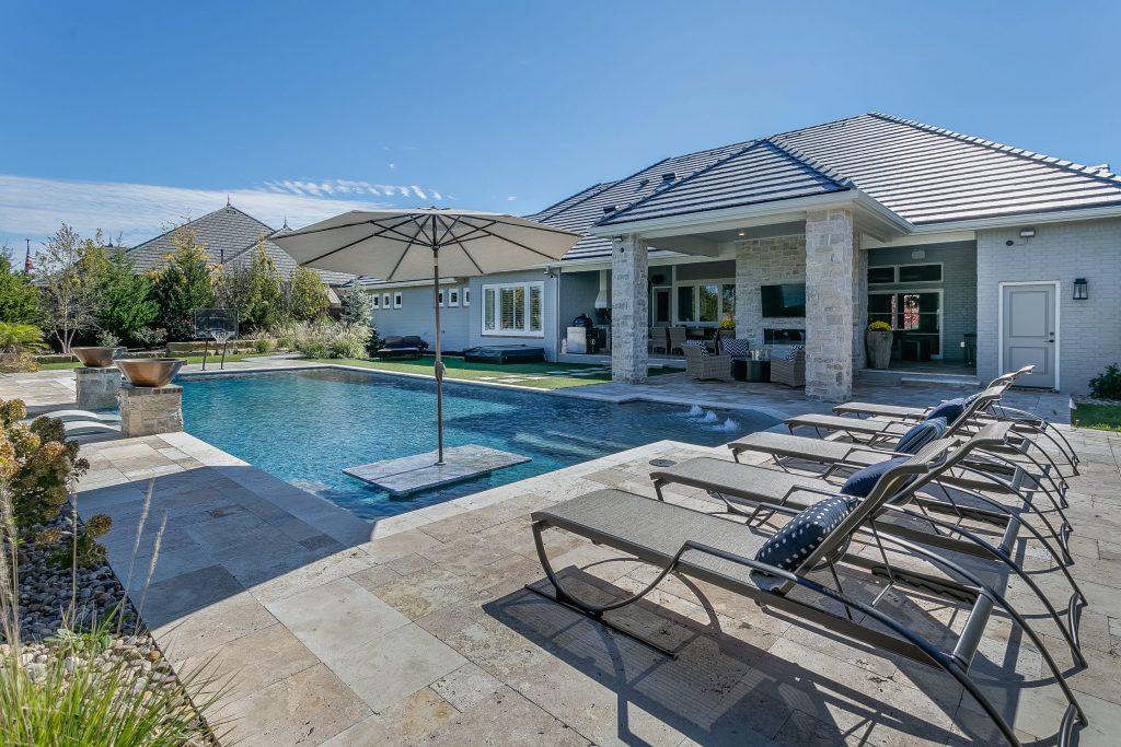 Magnolia Floor Plan Swimming Pool Outdoor Living Area