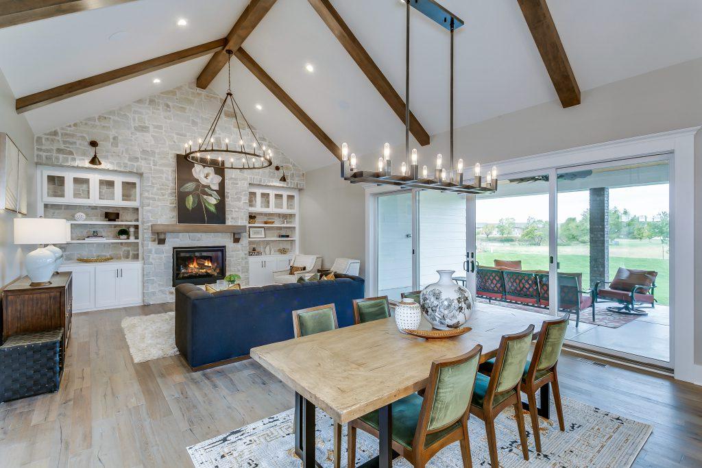 Magnolia Floor Plan Living Dining Rooms