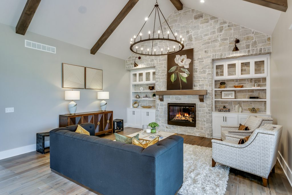 Magnolia Floor Plan Living Room Fireplace