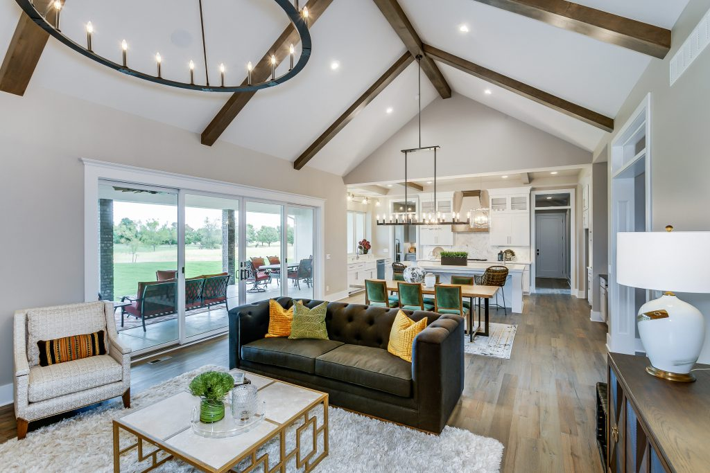 Magnolia Floor Plan Living Room and Dining Room