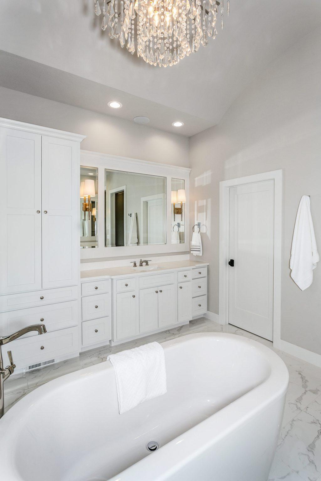 Magnolia Floor Plan Master Bathroom Vanity 1 and Tub