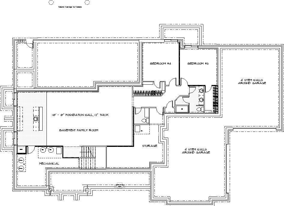 Magnolia Custom Home Basement Floor Plan in Wichita