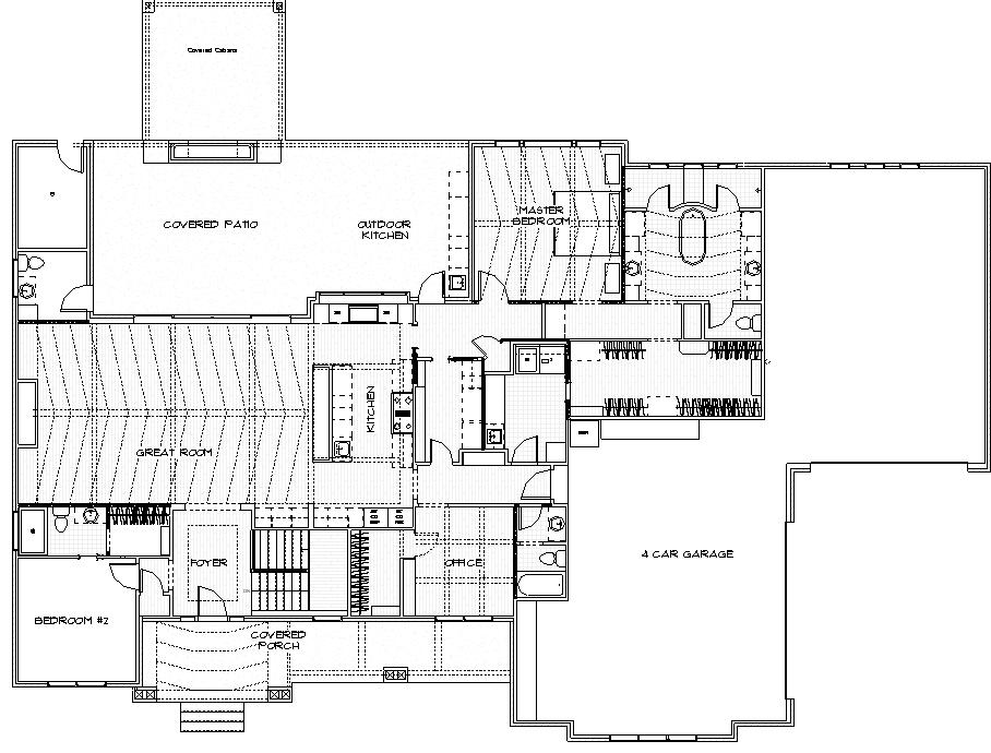 Magnolia Custom Home Main Level Floor Plan in Wichita