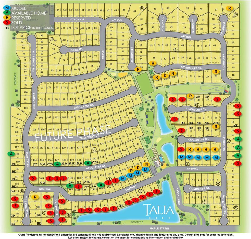 Talia Plat Map, Wichita KS