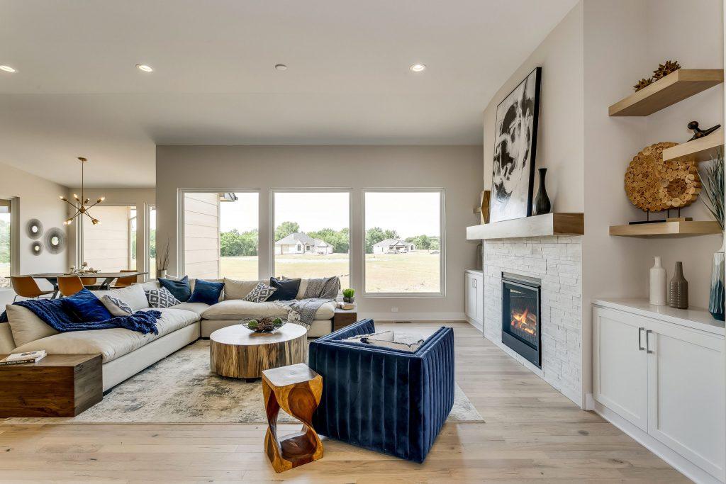 Summerset Terrace Farmhouse Living Room Fireplace
