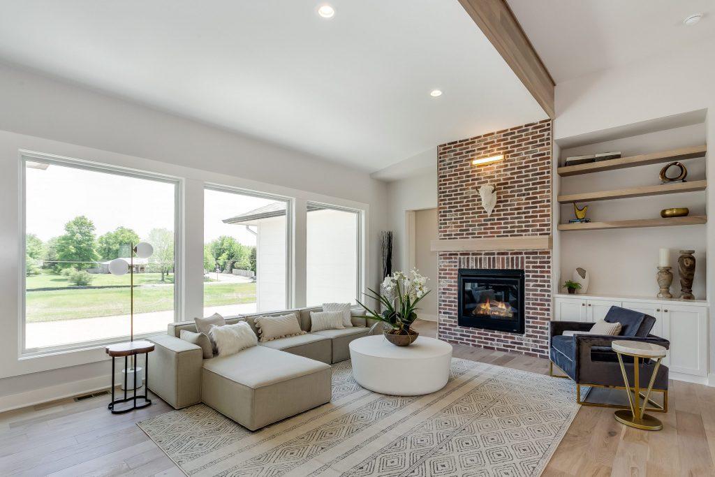 Summerset Terrace Prairie Living Room Fireplace