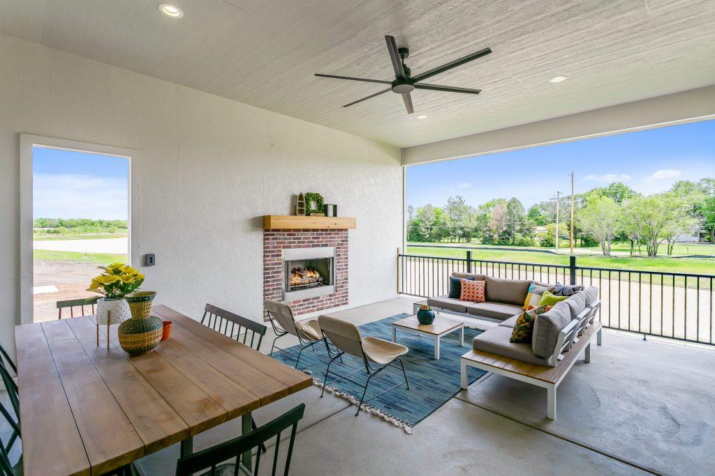 Summerset Terrace Prairie Covered Porch and Exterior Door