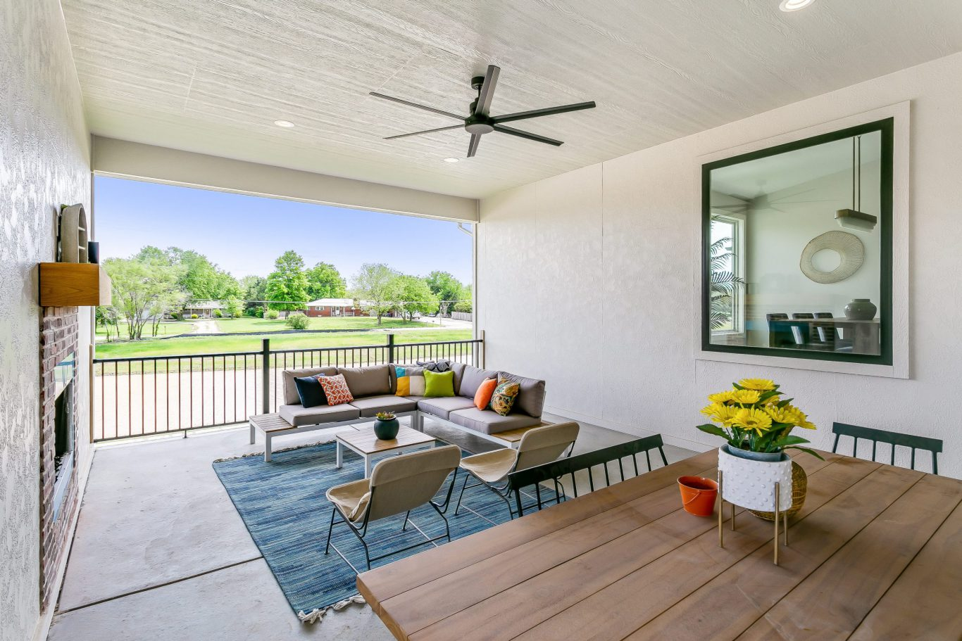 Summerset Terrace Prairie Covered Porch with View