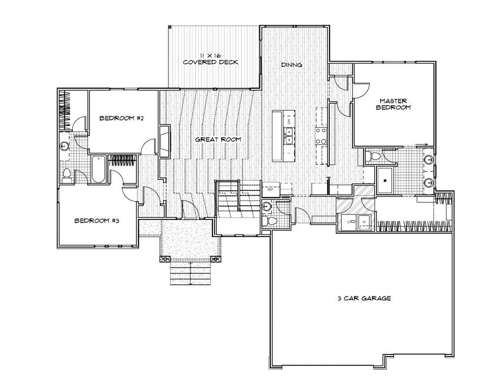 Mandalay Prairie Style Floor Plan