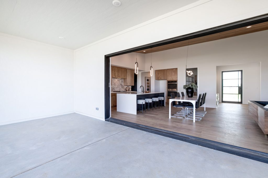 Gunnison Floor Plan Looking From Lanai to Kitchen