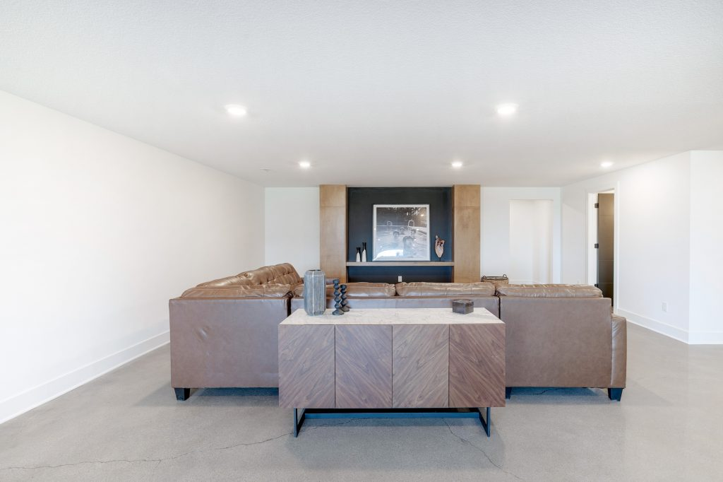 Gunnison Floor Plan Lower Level Entertainment