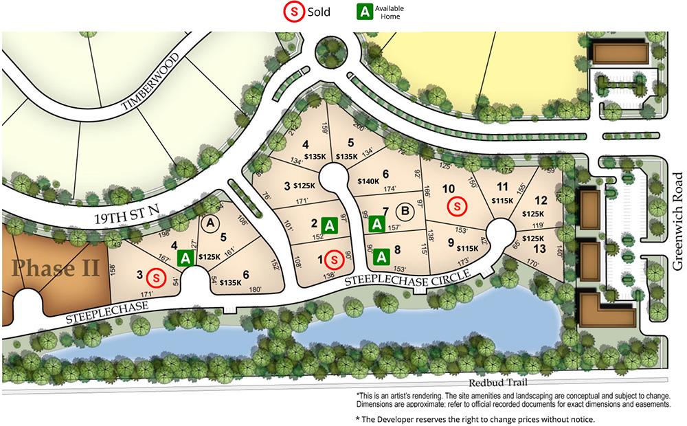 Oak Creek plat map
