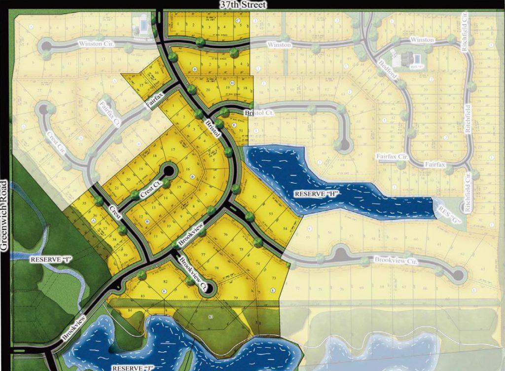 Brookfield New Home Community Plat Map Wichita