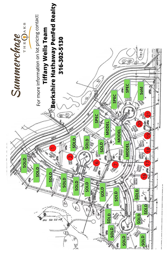 Summerchase at The Oaks plat map